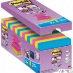 Bloczek samoprzylepny POST-IT_ Super sticky Z-Notes (R330-SS-VP16), 76x76mm, 14x90 kart., mix kolorów, 2 bloczki gratis