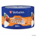 Płyta DVD-R VERBATIM (50) szpindel do nadruku 4.7GB x16 97167 zamiennik dla 43533 szpindel