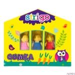 Gumka zwierzątka 3 szt. STRIGO SSC004