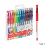 Długopis żelowy z brokatem 12 szt. mix kolorów FIORELLO 160-2196