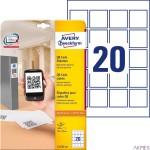Etykiety do kodów QR L7121-25 45 x 45 25 ark. Avery Zweckform