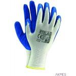 Rękawice powlekane biało-niebieski rozmiar 8 RTELA