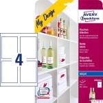 Etykiety na butelki MD4001 90 x 120 5 ark. białe, Avery Zweckform