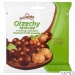 Orzechy laskowe JUTRZENKA w mlecznej czekoladzie 80g
