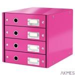 Pojemnik z 4 szufladami LEITZ różowy CLICK&STORE 60490023