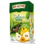 Herbata BIG-ACTIVE zielona liściasta z owocem pigwy 100g
